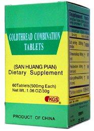 Tabletas de la combinación de goldthread (San Huang Pian) 3 botellas