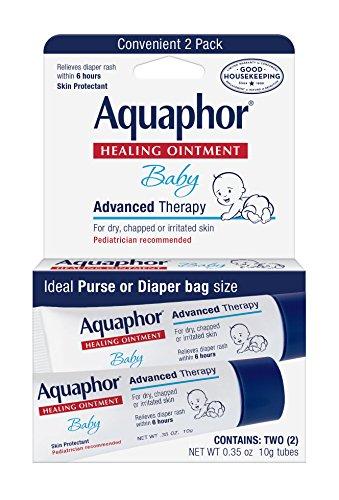 Ungüento curativo de Aquaphor bebé, pañal y seque la piel Protectant,.35 oz doble Pack