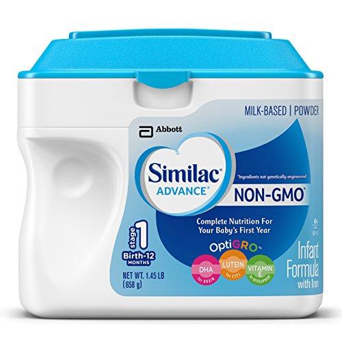 Similac Advance fórmula infantil no-GMO, polvo, 23,2 onzas (paquete de 6)