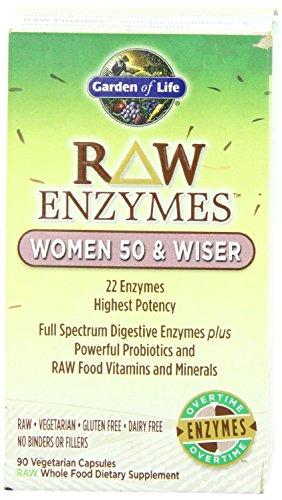 Jardín de vida cruda Enzymes(TM) mujeres 50 y más sabios, 90 cápsulas