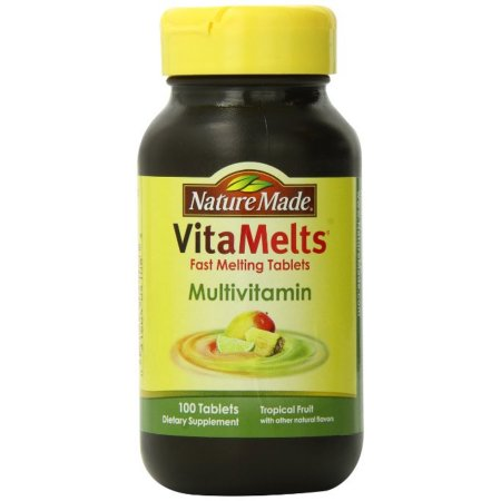 Nature Made VitaMelts comprimidos multivitamínicos Tropical Fruit 100 ea (Pack de 2)
