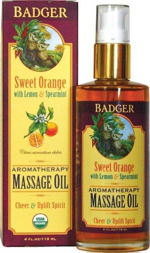 Aceite de masaje de aromaterapia naranja dulce de tejón