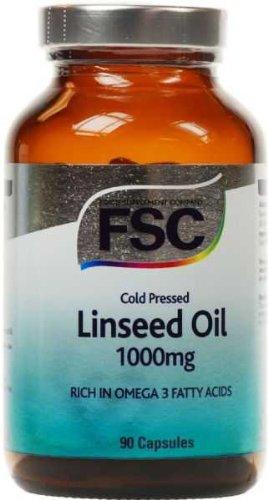 FSC frío presionado linaza 1000 90 cápsula