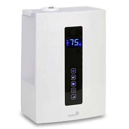 IVATION humidificador ultrasónico de vapor frío y caliente con el modo digital de humedad, control de nivel niebla y configuración Timmer y sin agua automático función de desconexión