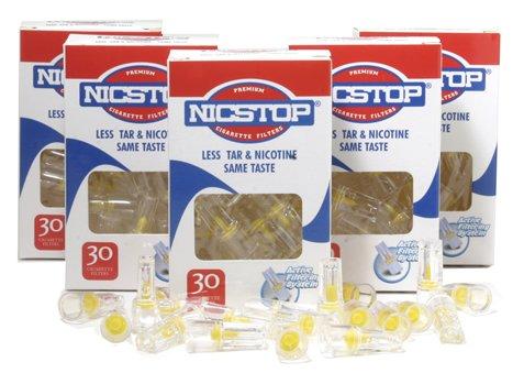 NICSTOP filtros de cigarrillos 5 paquetes (150 filtros)