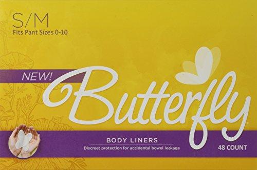 Cojines mariposa ® / trazadores de líneas del cuerpo del intestino si hay fugas - S/M 48 cuenta de las mujeres