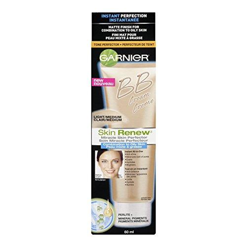 La piel de Garnier renovar milagro piel crema de Bb Perfeccionador, combinación de piel grasa, ligero/medio, 2 onzas de líquido