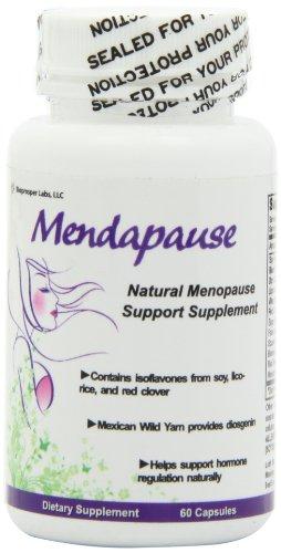 Mendapause 12-ingrediente menopausia suplemento para bochornos, sudoración nocturna, cambios de humor, baja energía (60 cápsulas)