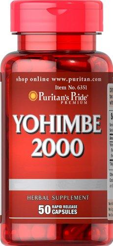Pride Yohimbe 2000 mg-50 cápsulas de Puritan