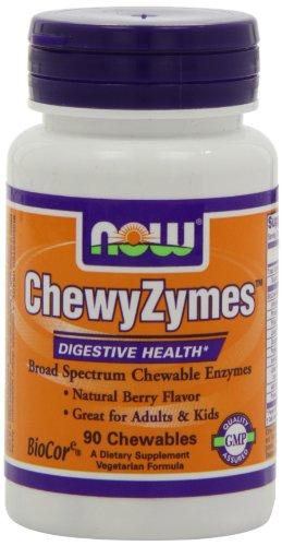 AHORA alimentos ChewyZymes 90 tabletas masticables