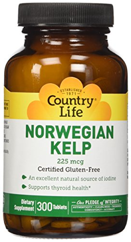 País vida noruego Kelp 225 mcg, 300-Conde