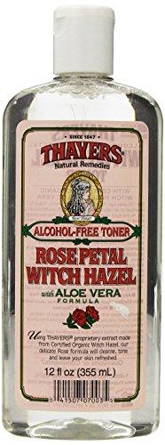 Avellana de la bruja de Thayers pétalo de rosa sin Alcohol con Aloe Vera ~ 12 oz