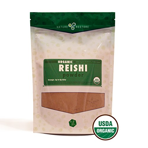 Polvo de seta Reishi orgánico, no-GMO (8 onzas)