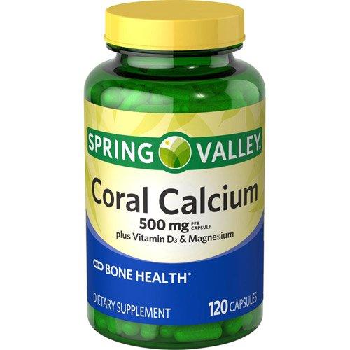 Spring Valley calcio de Coral, 500 Mg y vitamina D3 magnesio, 120 cápsulas