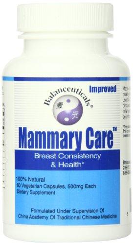 Balanceuticals mamarias cuidado suplemento dietético cápsulas, 500 mg, frasco de 60 cápsulas