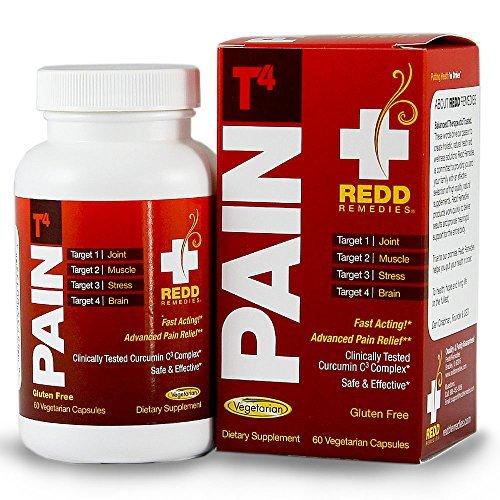REDD remedios dolor T4 - avanzado de alivio del dolor - objetivos dolor en los músculos y articulaciones - de acción rápida - modula la respuesta de estrés - 60 cápsulas vegetarianas