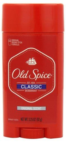 Old Spice Classic desodorante, perfume Original, 3.25 onzas (paquete de 6)