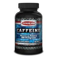 Prolab nutrición cafeína, 100 tabs 200mg (paquete de 2)