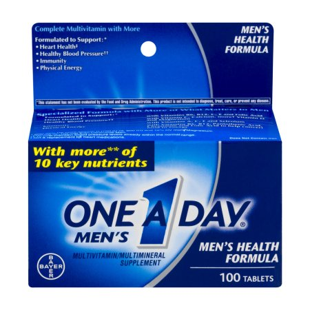 One A Day Comprimidos Fórmula de multivitaminas Salud Masculina - 100 CT