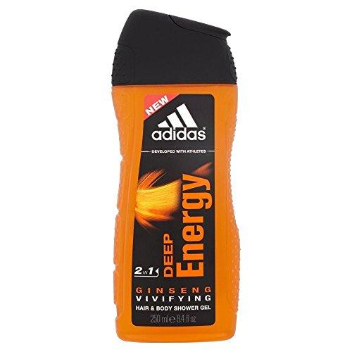 Adidas para hombres ducha Gel - energía profunda (250ml)