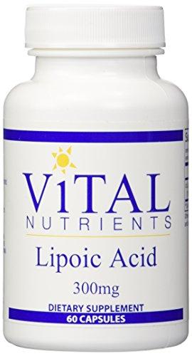Ácido lipoico de nutrientes vitales, cuenta 60