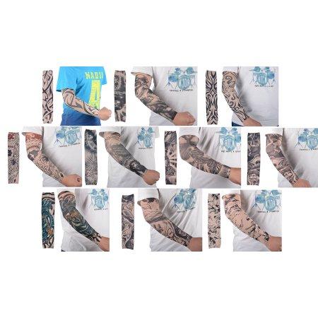 Simplicity Arte 10pc falso tatuaje temporal mangas del brazo del cuerpo de las medias del Llano