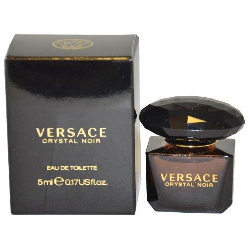 Versace cristal Noir de Versace para mujer Eau De Toilette Splash, 5 ml