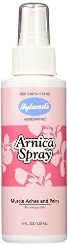 Árnica Spray, alivio Natural homeopático para hematomas, dolores musculares y dolores, 4 onzas de Hyland's