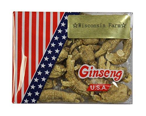 Premium Ginseng de Wisconsin no clasificados grande 4oz caja
