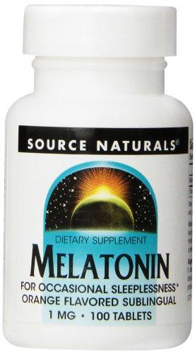 Source Naturals melatonina 1mg, naranja, 100 comprimidos
