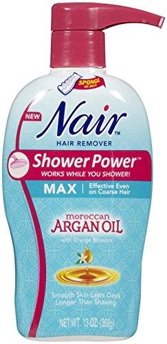Nair ducha Power Max aceite de argán, 13 oz