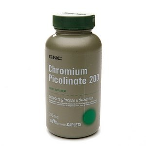 GNC Chromium Picolinate 200 MCG 180 cápsulas vegetarianas