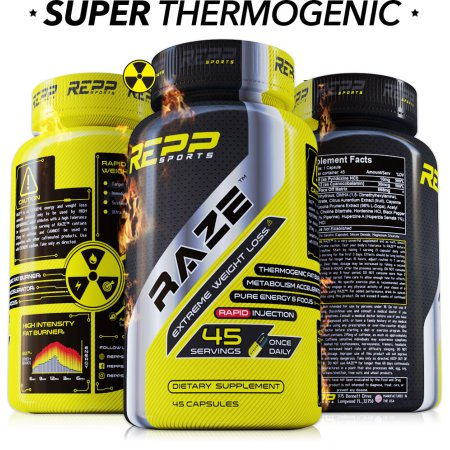 Repp Sports Raze - Quemador de Grasa Extremo (45 cápsulas)
