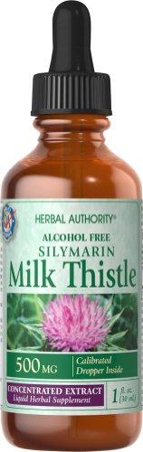 Silimarina (cardo de leche) líquida (500 mg por 1 ml) 1 oz buena ' n Natural