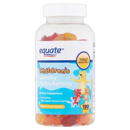 equate Gummies suplemento multivitamínico para niños 190 ct