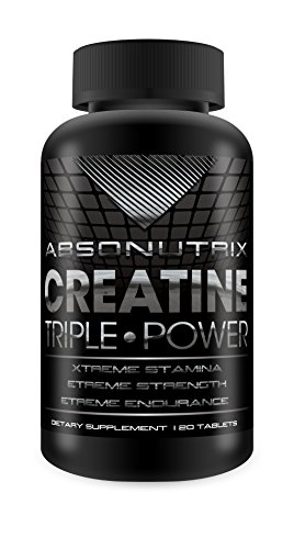 Poder Triple de Absonutrix creatina 5000mg - 120 tabletas aguante Xtreme - Xtreme Strength - resistencia de Xtreme