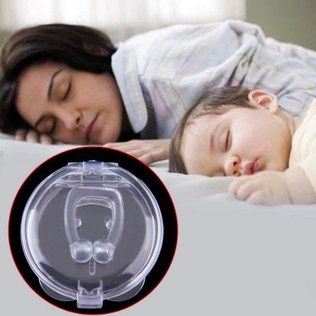 Dejar de roncar anti ronquido clip de la nariz de la bandeja de atención Guardia Apnea Ayuda para dormir