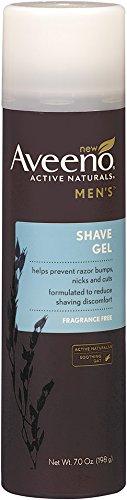 Aveeno Active Naturals Men Shave Gel, 7 onzas