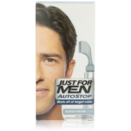 Just For Men AutoStop Haircolor Darkest Brown A-50 1 ea (Pack of 6)