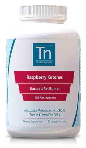 Cetonas frambuesa puro nutrientes confianza: 100% puro, 500mg, suministro de 90 días cuenta 180 - suplemento para bajar de peso todo Natural -