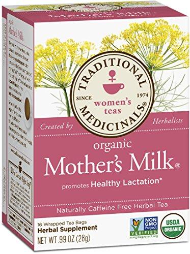 Té de la leche de madre orgánicos medicinales tradicionales, 16 bolsas de té (paquete de 6)