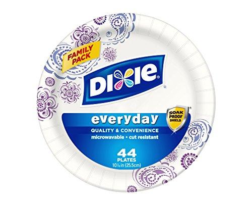 Placas HD papel de Dixie, 10 1/16 pulgadas, cuenta 44 (paquete de 5)