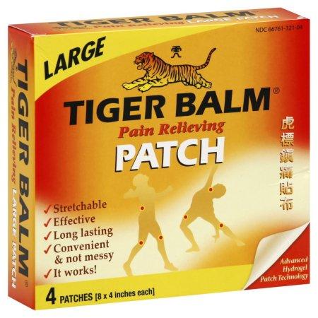 Tiger Balm Dolor Aliviar 4 cajas 6 parches cada una