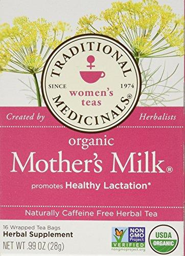 Leche de la madre orgánicos tradicionales medicinales infusiones 2-pack, cuenta 32.