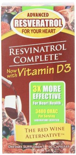 Resvinatrol completa suplemento dietético cápsulas vegetarianas, cuenta 60
