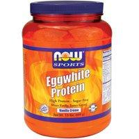 Ahora alimentos proteína de clara de huevo vainilla Creme - 1,5 libras 3 Pack