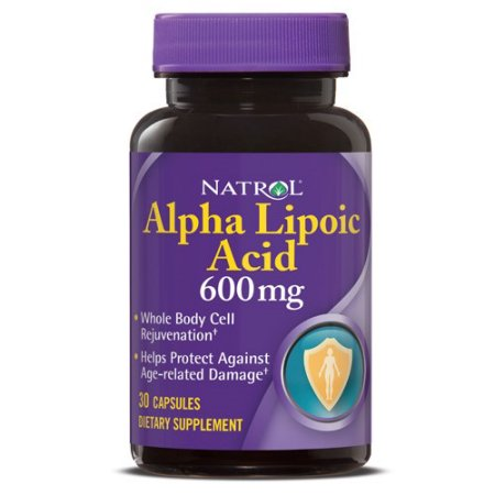 Natrol ácido alfa-lipoico 600 mg Cápsulas 30 Ct