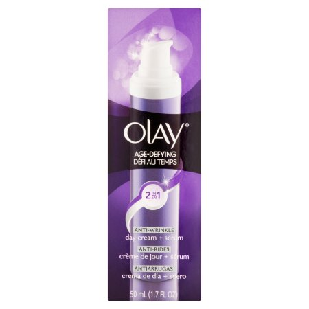 Olay Anti Envejecimiento Antiarrugas Tratamiento Facial Crema de día y Suero 2-en-1, 1,7 oz