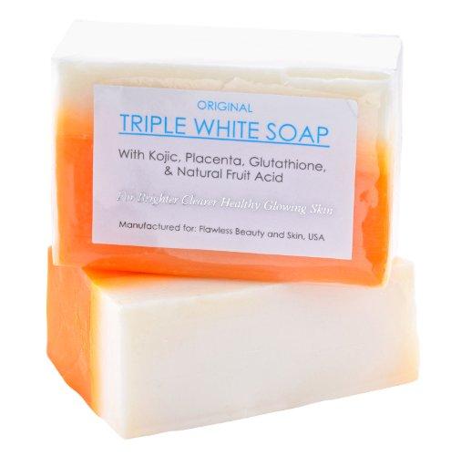 Ácido kójico, Placenta y Triple de glutatión blanquear/blanqueamiento jabón aprox. 150gms