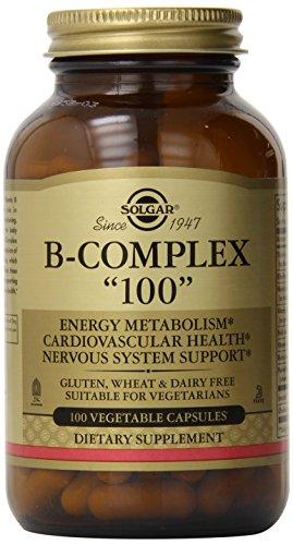 """Solgar, B-Complex """"100"""", 100 cápsulas vegetales"""